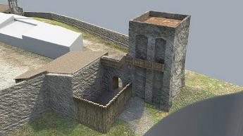 Ricostruzione virtuale del borgo