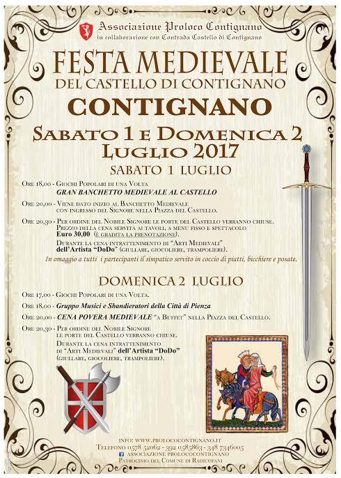 Locandina Festa Medievale - ed. 2017
