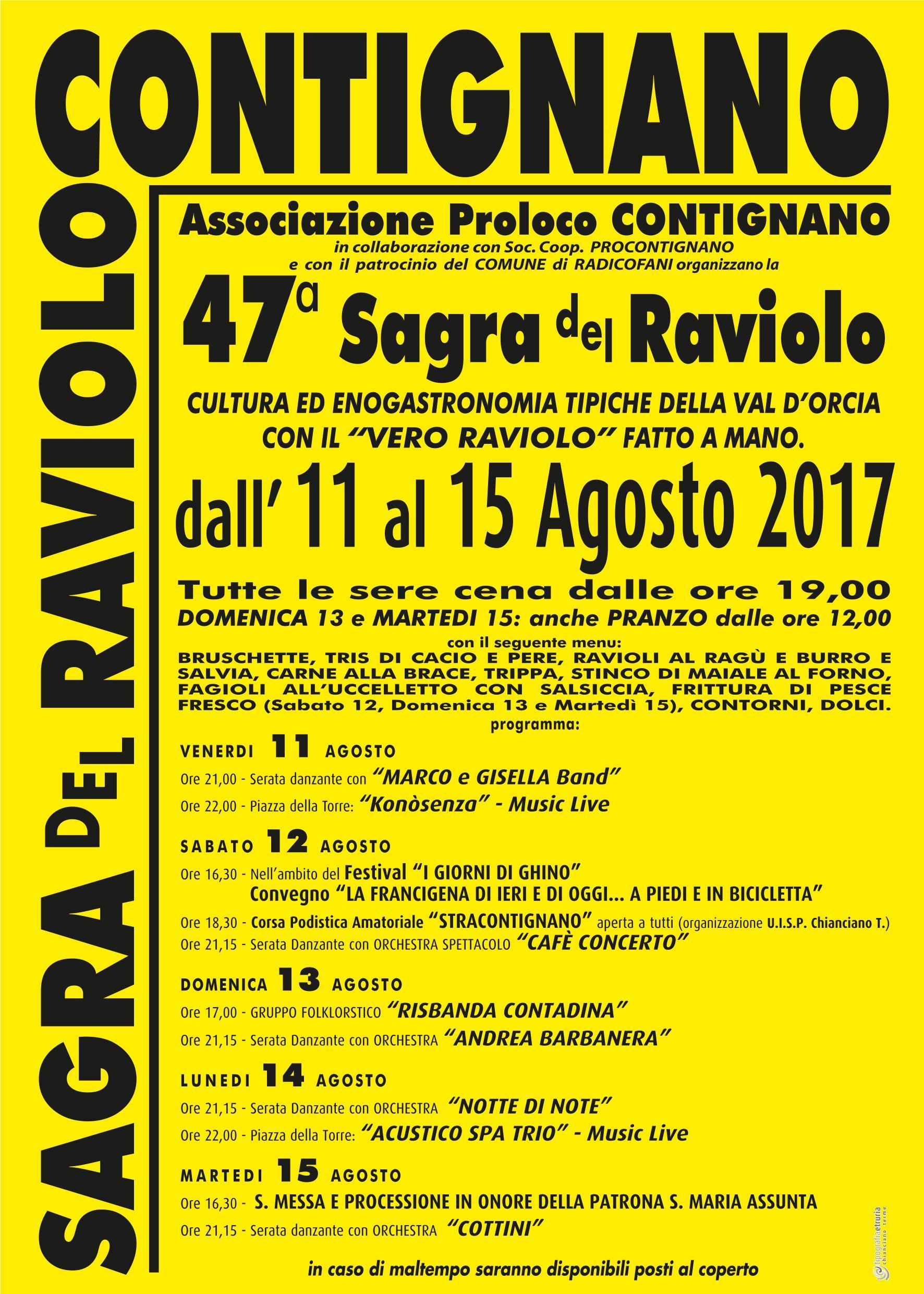 Manifesto della Sagra del Raviolo 2017