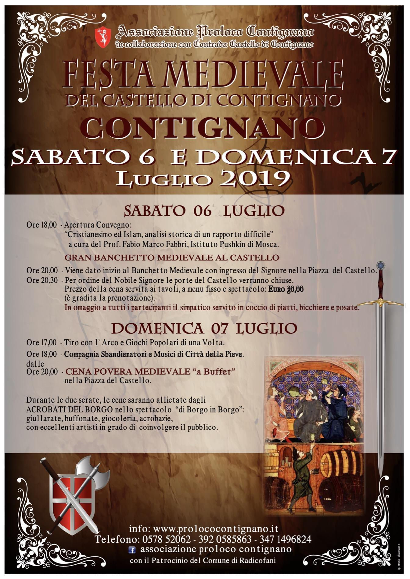 Manifesto Festa Medievale - ed. 2019
